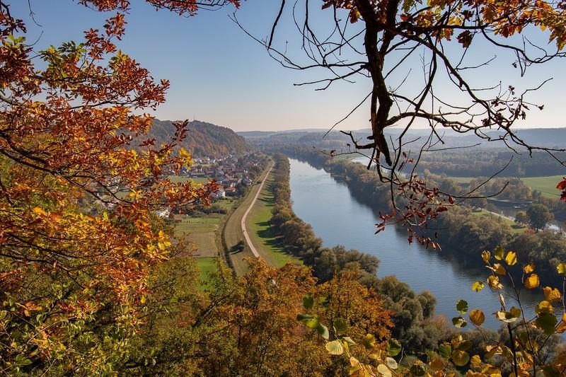 Ausblick auf das Donautal in Oberndorf